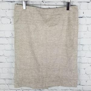 LAURA PETITES | linen blend tiered hem midi skirt